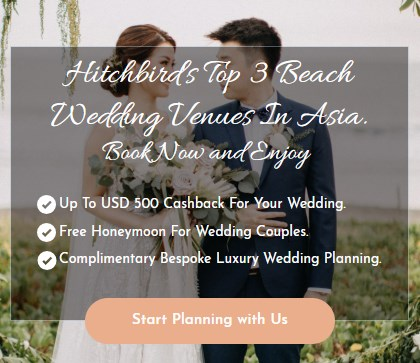 Top 3 Beach Wedding Venues in Asia