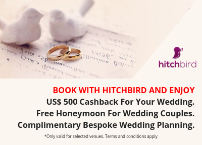 US$500 cashback for your wedding. Free honeymoon for wedding couples. Complimentary bespoke luxury wedding planning.