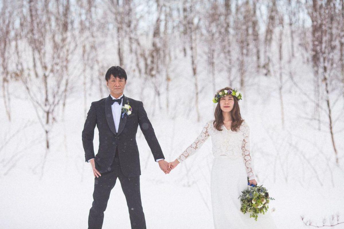 pre wedding photography niseko