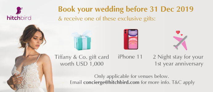 The best wedding deals in asia. Guaranteed! Up to USD1,000 cashback. Limited Quota.