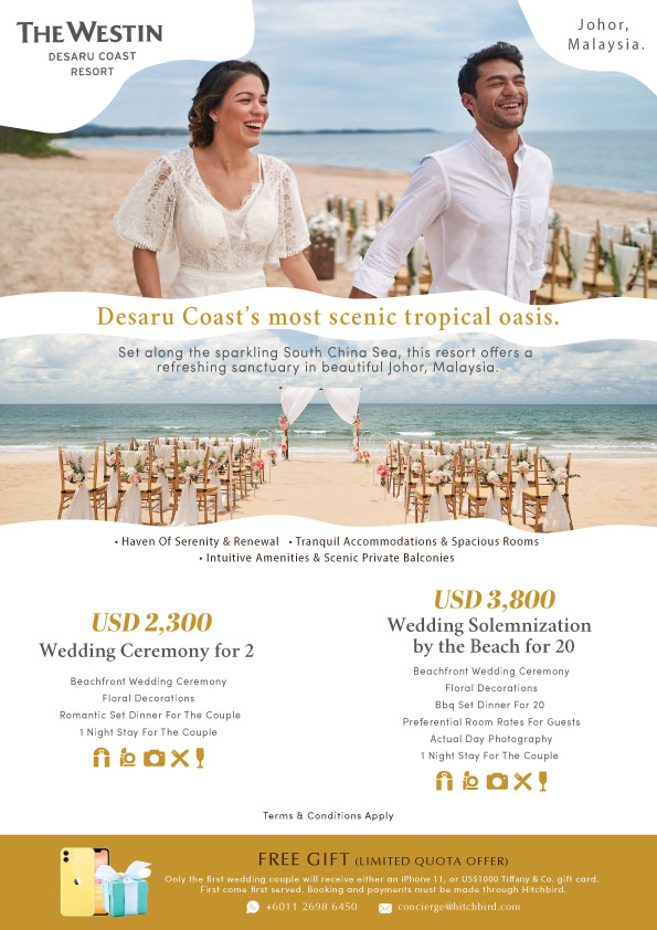 Click to enquire now, THE WESTIN DESARU COAST RESORT
